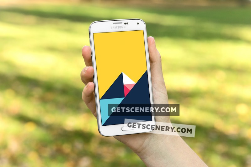 Samsung Galaxy S5 Mockup Template (Free Starter Pack)