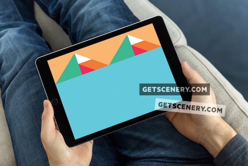 iPad Air Mockup Template (Leisure Time 1)