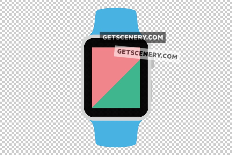 Apple Watch Sport 42mm Mockup Template (Free Flat Design Pack)