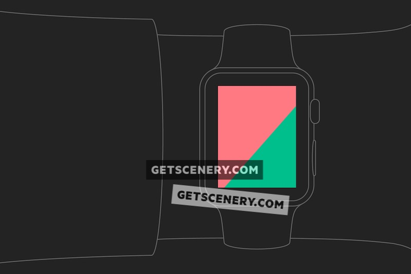 Apple Watch Sport 42mm Mockup Template (Outlines)
