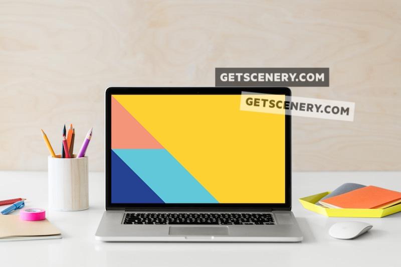 MacBook Pro Mockup Template (Stylish Desk)