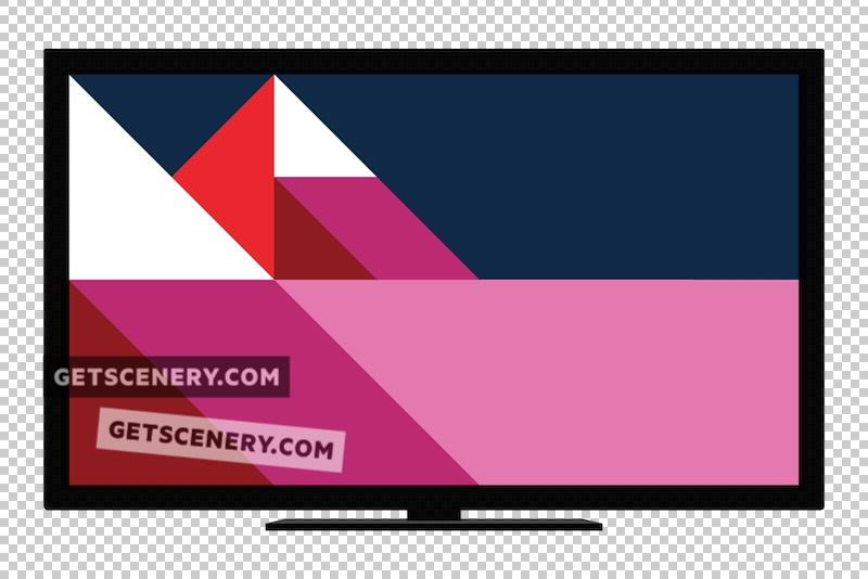 TV Mockup Template (Free Flat Design Pack)