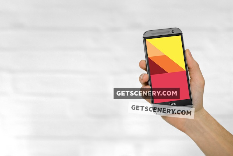 HTC One (M8) Mockup Template (Neutral Backgrounds)