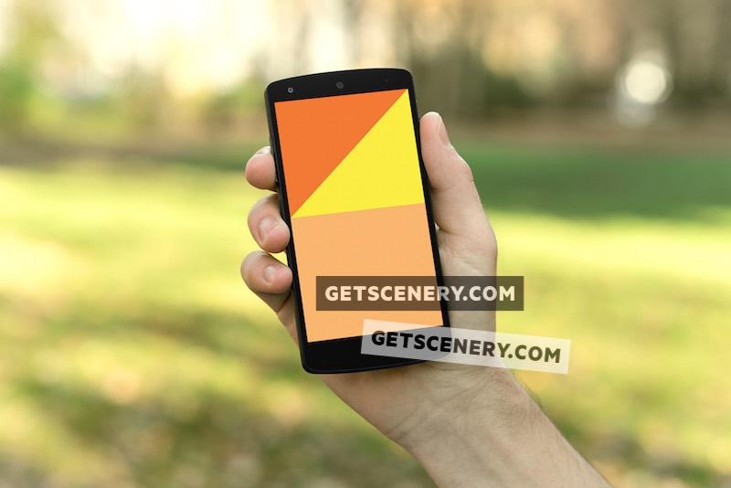Nexus 5 Mockup Template (On the Go)