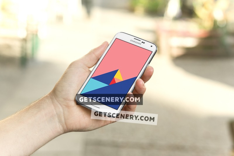 Samsung Galaxy S5 Mockup Template (On the Go)