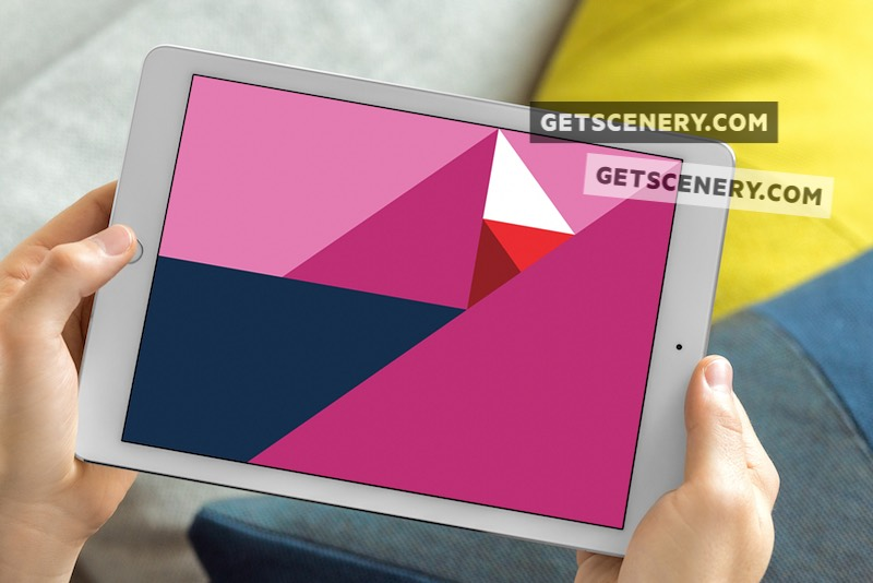 iPad Air Mockup Template (Couch Surfing)