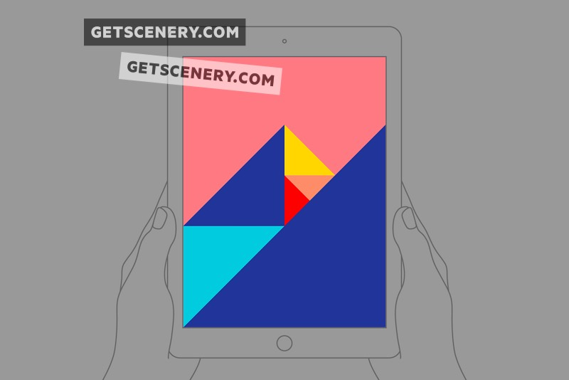 iPad Air Mockup Template (Outlines)