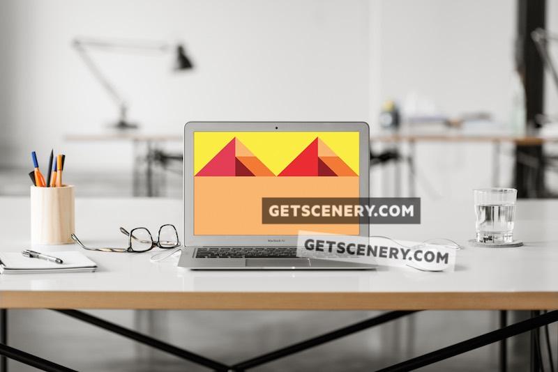 MacBook Air Mockup Template (Loft Studio)