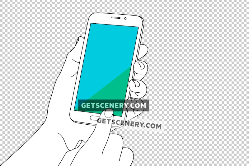 Samsung Galaxy S5 Mockup Template (Outlines)