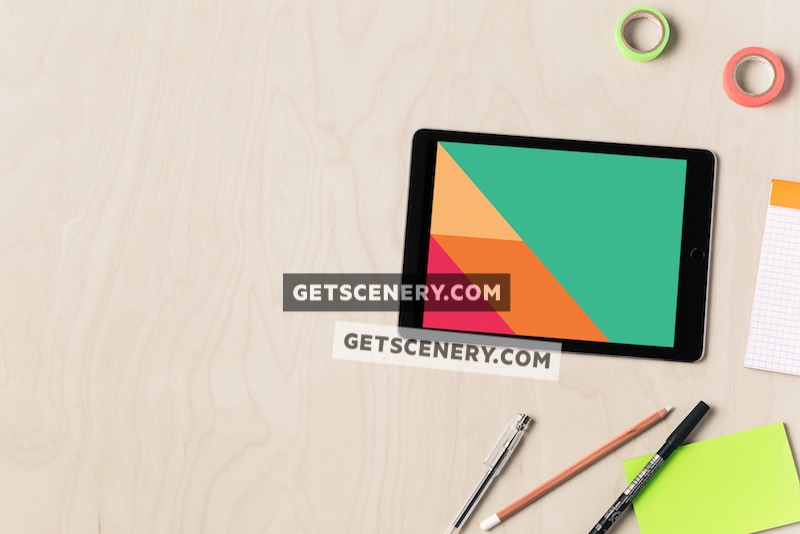 iPad Air Mockup Template (Stylish Desk)