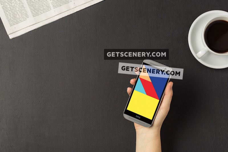 HTC One (M8) Mockup Template (Morning Routine)
