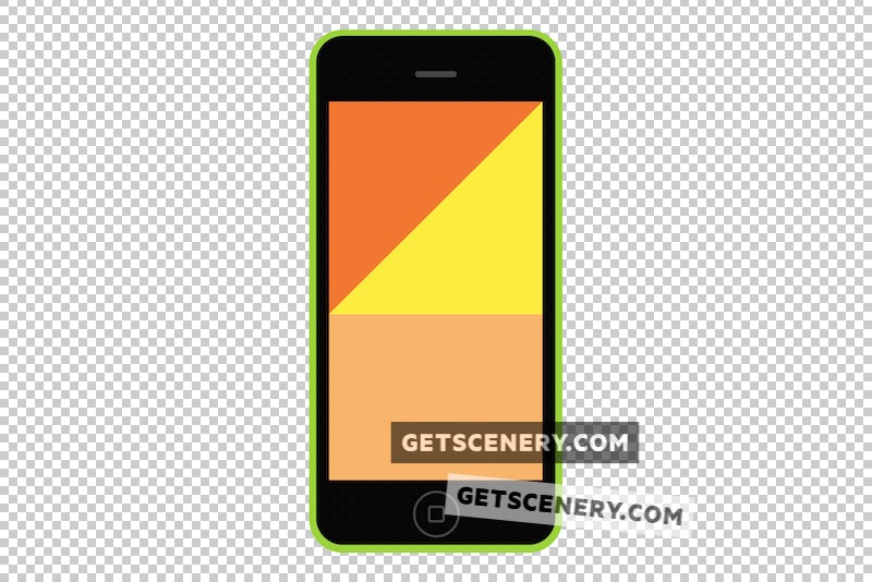 iPhone 5c Mockup Template (Free Flat Design Pack)