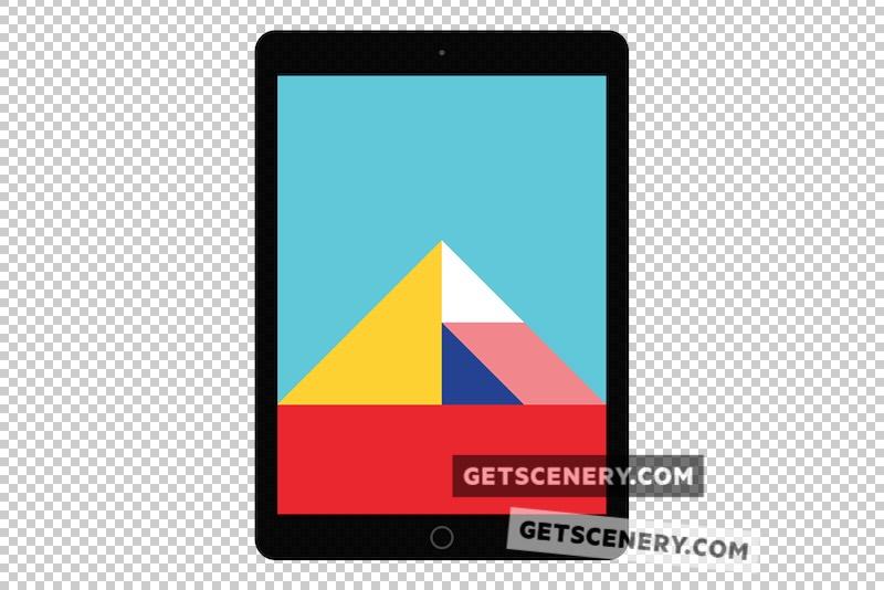 iPad Air Mockup Template (Free Flat Design Pack)
