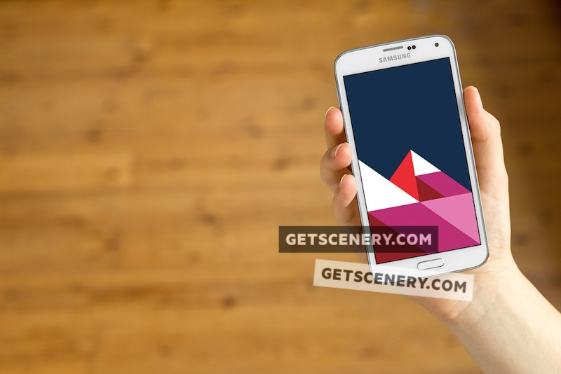 Samsung Galaxy S5 Mockup Template (Neutral Backgrounds)