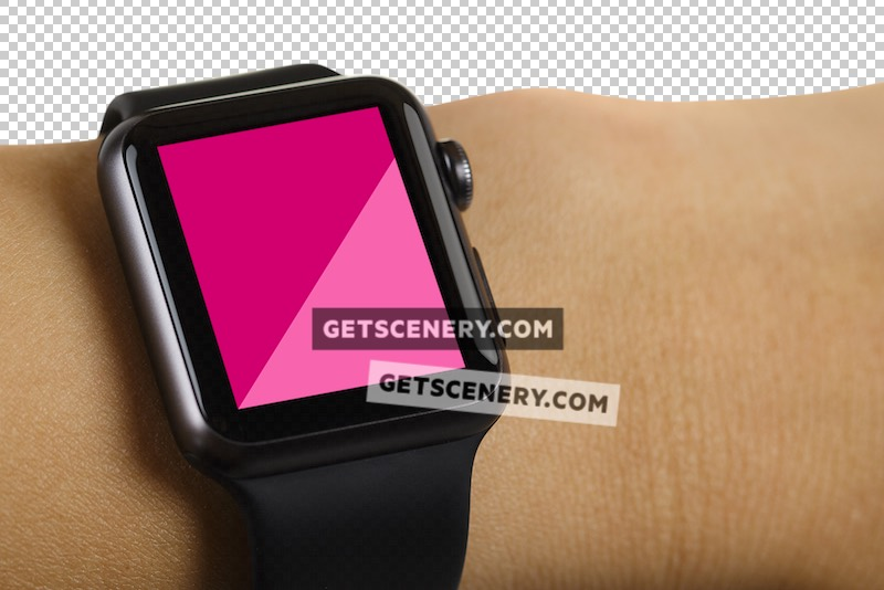 Apple Watch Sport 38mm Mockup Template (Apple Watch Studio)