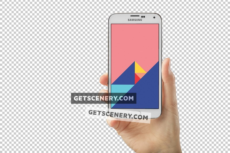 Samsung Galaxy S5 Mockup Template (Transparent Backgrounds)