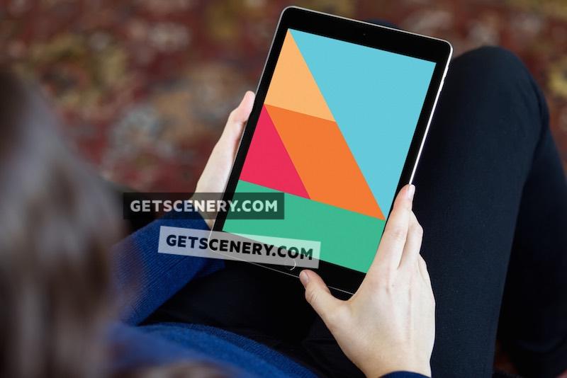 iPad Air Mockup Template (Leisure Time 2)
